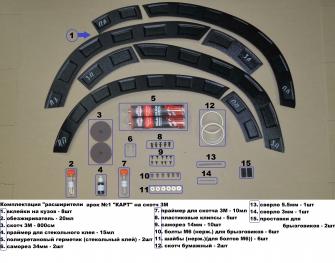 Расширители колесных арок №1 «КАРТ» для Рено Дастер рестайлинг c 2015 г.в.