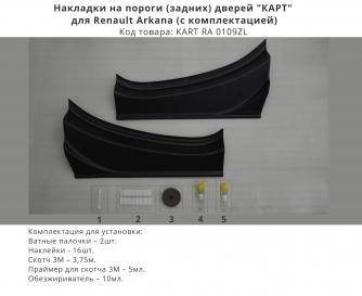 Накладки на пороги (задних) дверей